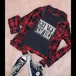 Sale 💰Grunge crop t shirt forever 21